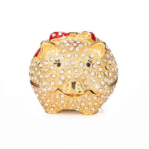 lierten Cute Pig Dekorative Scharnier Schmuck Schmuckkästchen Einzigartiges Geschenk für Home Decor ()