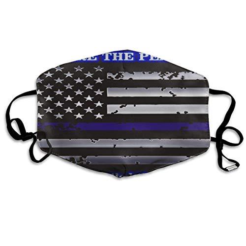 Blaue dünne Flagge gegen Staub, Ohrschlaufen für Frauen und Männer, Anti-Grippe, Pollenkeime, Klettern, Halbgesicht, Mundmaske, verstellbares Band für Gesicht und ()