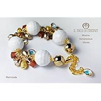Bunten Steinen und Swarovski-Armband Marmolada Handgefertigt Made in Italy- handgefertigt - handgemacht - Mädchen Geschenk Mädchen - Geschenke für sie - Weihnachten