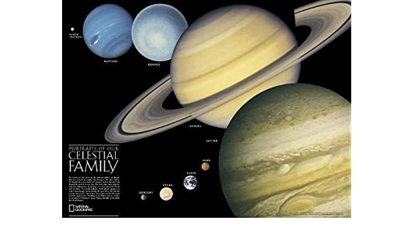 The Solar System, 2-sided, Laminated: Wall Maps Space ...