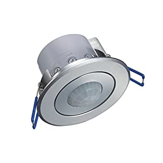 Decken-Einbau-Bewegungsmelder silber/Aluminium 360° wie Einbaustrahler PIR CR 223