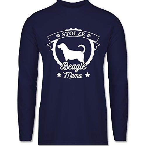 Shirtracer Hunde - Stolze Beagle Mama - Herren Langarmshirt Navy Blau