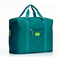 Cestval Cabin Size Hand Baggage Duffel Holdall Bag lightweight Luggage Waterproof Tintamar Tote Bag Cargo Bag Foldaway storage for Travel Camping Sports Gym Can Attach on the Handle of Suitcase(Green)