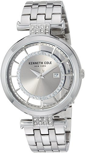 Kenneth Cole New York Women's Quartz Stainless Steel Casual Watch, Color:Silver-Toned (Model: KC15005010)