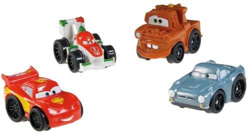 Disney Cars Fisher Price Wheelies - 4 Cars Fahrzeuge - Mc Queen, Finn, Matter Hook, Francesco Bernoulli