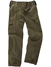 Army and Outdoors 6 Pocket Basic Combat Cargo Trousers - Olive