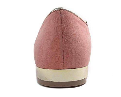 GLTER Damen Closed-Toe Pumps Bootsschuhe Alternative Persönlichkeit Katze Schuhe Gestickte flache Schuhe Court Schuhe Pink Green Pink