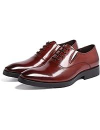 GRRONG Zapatos De Cuero De Los Hombres Pies De Cuero Retro De Cuero Son Cómodos