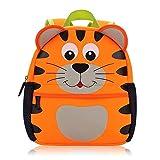 Vox Tier Kinderrucksack Kindergarten Rucksack für Kleinkinder Mädchen Jungen Babyrucksack Wasserdicht (Tiger)