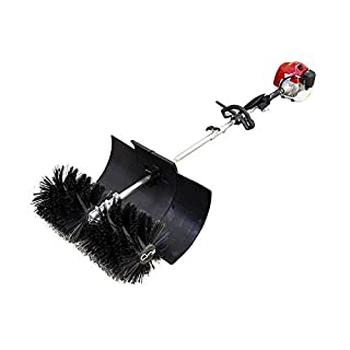 PRIT2016 52cc 2 Stroke 3.5HP Gas Power Sweeper Petrol Powered Sweeper Gasoline Engine Power Broom Brush Clear with Air Cooled Motor EPA Engine for Driveway Turf Snow