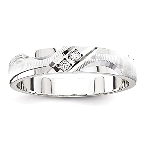 IceCarats 14k White Gold Quality Trio Ladies Wedding Wedding Ring Band