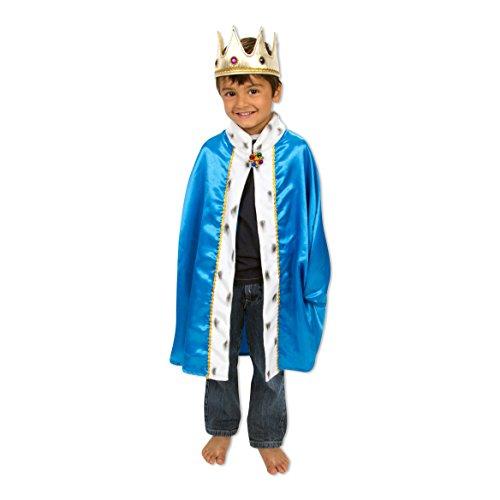 Slimy Toad König kap und krone kostüm - König kostüm für kinder - Gr. 98 - 128 cm (3-7 jahre) (King Arthur Kostüm Kind)