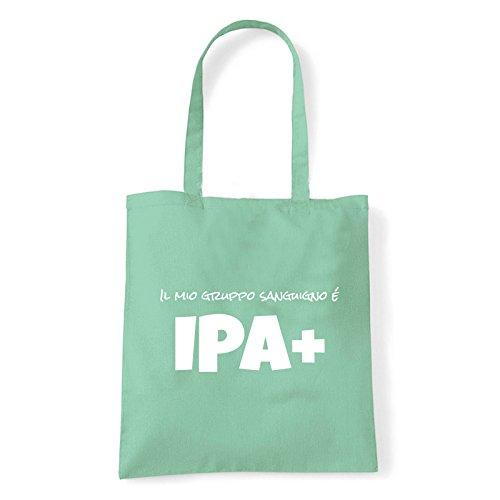 Art T-shirt, Borsa Shoulder IPA+, Shopper, Mare Menta