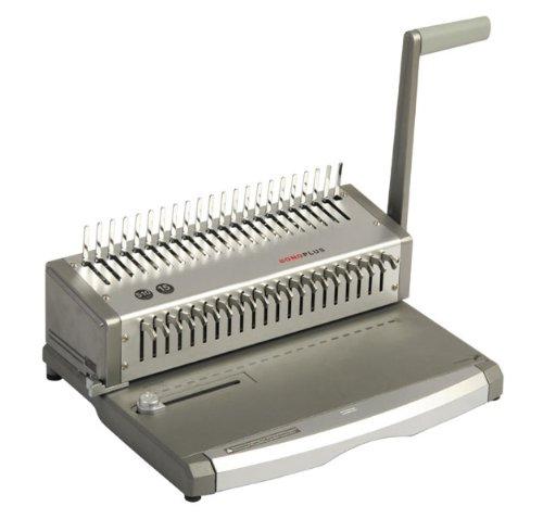 Plastik Bindegerät Bono Plus, stanzt bis 15 Blatt, bindet bis 470 Blatt, Metallkonstruktion, für A5, A4.