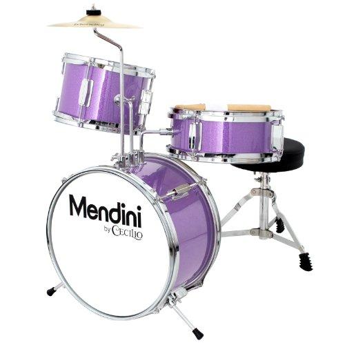 mendini-mjds-1-pl-kinderschlagzeug-komplett-set-33-cm-13-zoll-metallisch-lila