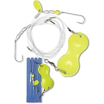 90 cm Yellow//Glow Zebco Z-Sea Flatty Teaser Inline Rig