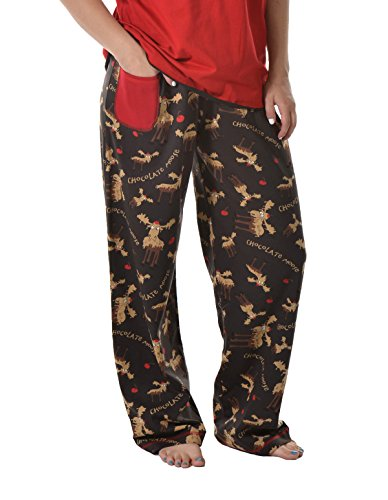 Lazy One Womens Chocolate Moose PJ Trousers