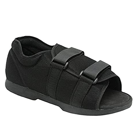 Medically Approved (LADIES) Post-Operation/Surgery Open Toe Shoe - Supplied to the NHS - Ideal for bulky dressings following foot, heel, toe, bunion operations etc LARGE (UK Size