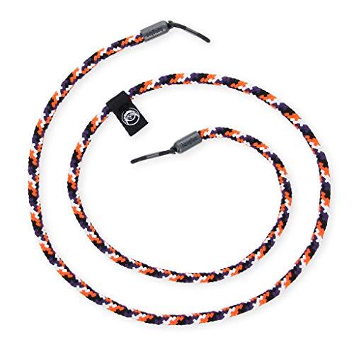 hangloo - Das hochwertige Brillenband   Name: Carrot Cake   Farben: Orange, schwarz, weiß und grau