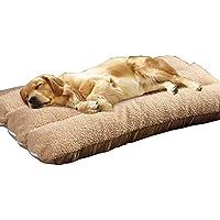 PLDDY Cama de Perro Extra Grande Lana de Almohada para Mascotas de 120 x 80 cm
