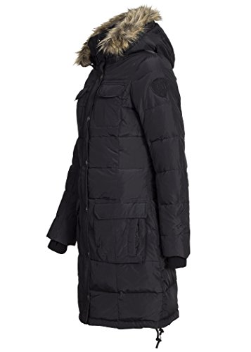 Eight2Nine Damen Daunen Wintermantel, schwarz, S