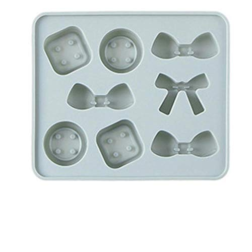 lyward Bogen Candy Button Shape Ice Cube - Silikon Eiswürfelform Blau, 2Er Pack (Mold Candy Bogen)