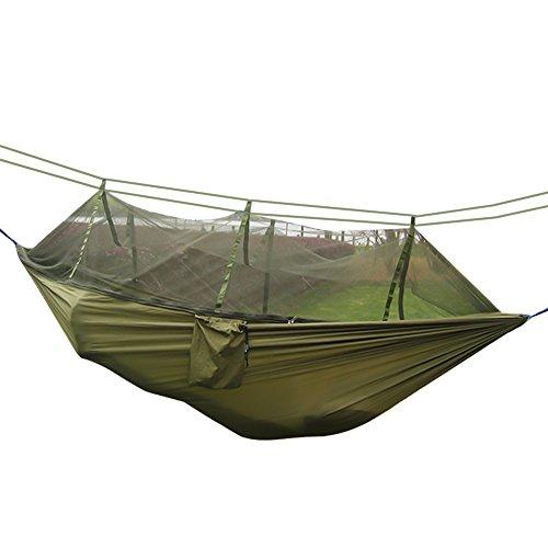 Nasharia Camping Hamac Set avec Moustiquaire, 2 Sangles D