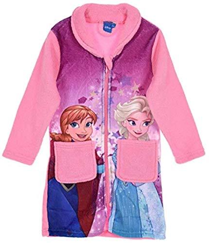 Preisvergleich Produktbild Trendstern Trendprodukteshop Frozen *Die Eiskönigin* Anna und ELSA Mädchen Coral Fleece Bademantel + EXTRA Frozen Geschenktasche (116)