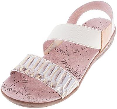 Maravillas de la mujer sandalias de piel de archivos (c-1151)