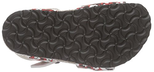 Birkenstock Rio, Sandales Bride cheville fille Rouge (Funny Mickey Heads Red)