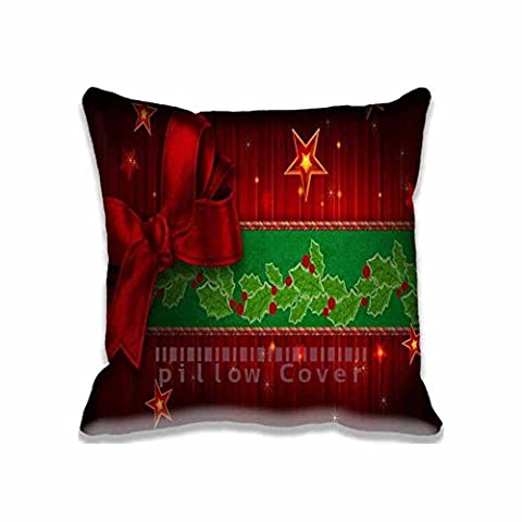 Digital Greeting Card Zipper Pillow Covers for Crafts ; Custom Photo Holidays Cushion Cover Personalized New Year Pillowcase