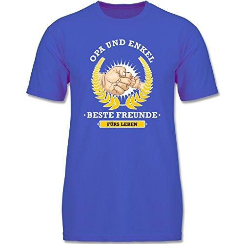 Bunt Gemischt Kinder - Opa und Enkel - Beste Freunde fürs Leben - 116 (5-6 Jahre) - Royalblau - F140K - Jungen T-Shirt (Jungen Ist Das Gut-shirt Leben Für)