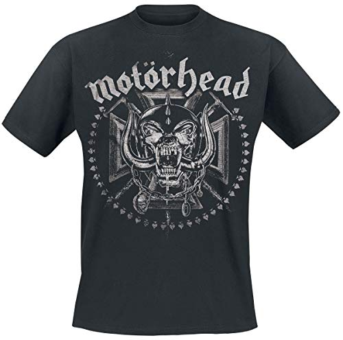 Motörhead Iron Cross Swords Camiseta Negro L