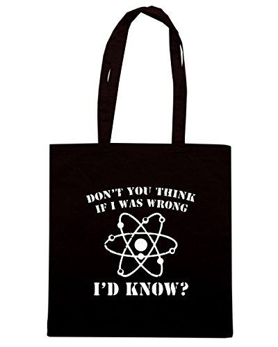 T-Shirtshock - Borsa Shopping OLDENG00538 if i was wrong Nero