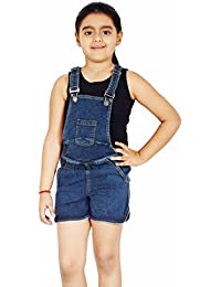 Naughty Niños Girl's Cotton Denim Dungaree (NN00124DRS)