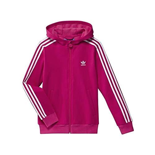 adidas Damen Trainingsjacke Hooded Track Top, bright pink f12/white, 140, X51934 Hooded Track Top