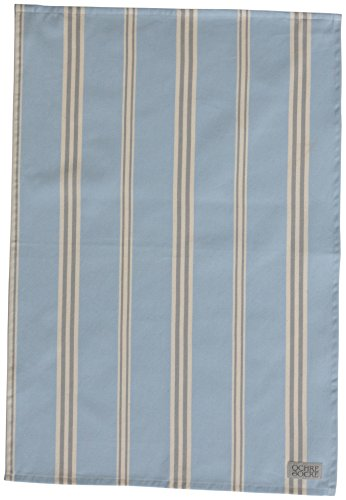 Organic Tea Towel - Eastnor (Blue Stripe)