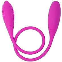 7 función de carga USB impermeable doble motor de silicona G-Spot clitoris y próstata masturbación juguete vibrador sexo para adultos - masajeador para hombres, mujeres o parejas