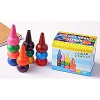 Green Seedlings Kleinkinder Wachsmalstifte Handflächengriff Wachsmalstifte, 12 Farben Farbstifte für Kleinkinder, Waschbare, Sichere und Ungiftige Buntstifte Stapelbare Spielzeuge für Kinder, Babys