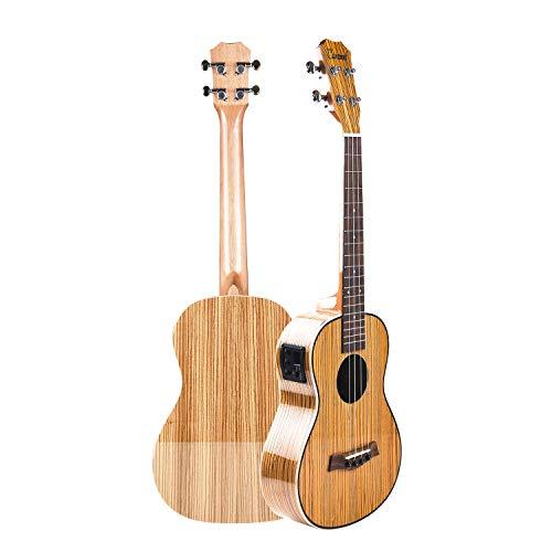 Caramel CB10376,2cm High Gloss Zebra legno elettrica acustica ukulele baritono con truss rod