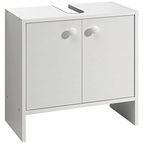 ROLLER Waschbeckenunterschrank – weiß – mit Syphonausschnitt - 3