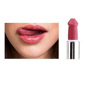 Gaddrt KAKAXI Frauen Populäre Penis Form Lippenstift Pilz Vampir Kuss Lip Gloss Heiße Verkäufe (H)