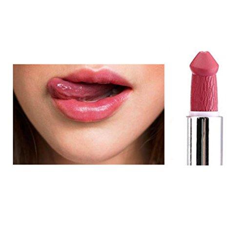 Klassische Matte Lippenstift (Gaddrt KAKAXI Frauen Populäre Penis Form Lippenstift Pilz Vampir Kuss Lip Gloss Heiße Verkäufe (H))