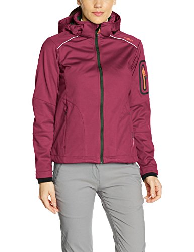 CMP Damen Softshell Jacke, Berry Mel/Leaf, 36