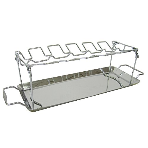 Stainless Steel Chicken Wing or Drumstick Rack for BBQ or OVen