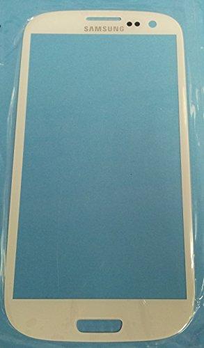 JZK Samsung Galaxy S3 SIII i9300 Front Glas Faceplate Ersatz Glas Outer glas Touchscreen Scheibe mit Klebefolie Pinzette und Werkzeug Werkzeugset Versandort Deutschland (samsung galaxy s3 i9300 weiß)