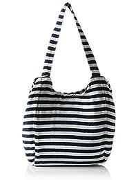 s.Oliver (Bags) Damen Shopper Schultertaschen, Blau (Blau), 14x27x47 cm