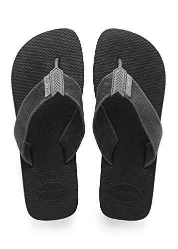 Havaianas Herren Urban Basic Zehentrenner, Mehrfarbig (Black/Grey), 45/46 EU
