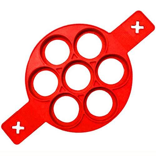 Pfannkuchen Formen Silikon Backform Ei Nonstick Runde Ei Ringe Maker Pancake Ring 7 Kreise Ei-Werkzeug