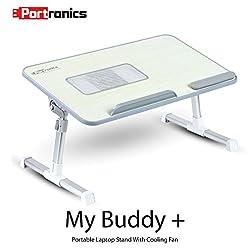 Portronics POR-704 Adjustable laptop cooling table, portable laptop desk, portable laptop table, Portable Multipurpose Laptop Table, Foldable laptop cooling table